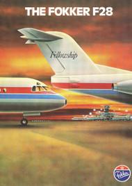 Fokker F-28  Aircraft Technical  Manual -  ( English Language ) , 1980