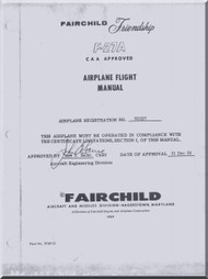 Fokker / Fairchild  F-27A Aircraft Flight Manual