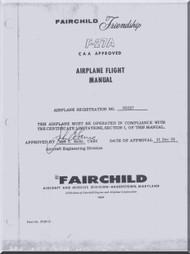 Fokker / Fairchild  F-27A Aircraft Flight Manual