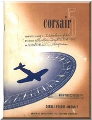 Vought F4U-5  Technical Description and performance manual, 1944 -  53  pages
