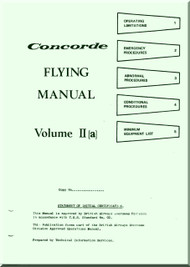 Aerospatiale / BAe / BAC  Concorde  Aircraft Flight Manual V. II A