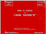 "SNCASO SO  4050 Vautour "" N "" Aircraft Flight  Manual Manuel de l'equipage ( French Language )"