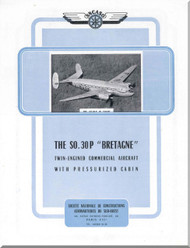 SNCASO SO  30 P Bretagne  Aircraft Technical Brochure  Manual     (French language )