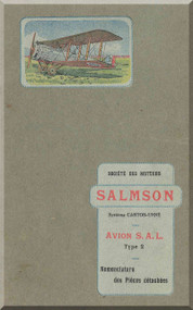 Salamson Avion S.A.L. Type 2 Parts Catalog  - Noenclature des Pieces detachees ( French Language )