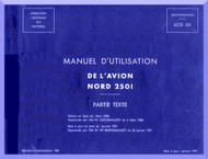 Nord  2501 Aircraft Manuel d'utilisation   Manual   (French language ) - Partie Text -1971