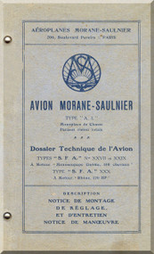 Morane Saulnier AI Aircraft Technical  Manual ( French Language )