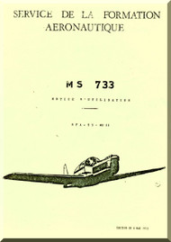 Morane Saulnier MS-733 Aircraft Technical  Manual ( French Language )