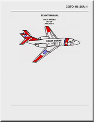 Dassault  Falcon HU-25 A, B, C,   Aircraft Aircraft Flight  Manual , ( English Language )