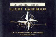 Breguet 1150  Aircraft Flight Handbook Manual ( French Language )
