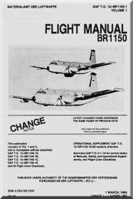 Breguet BR 1150 Aircraft Flight  Manual GAF  1U-BR1150-1