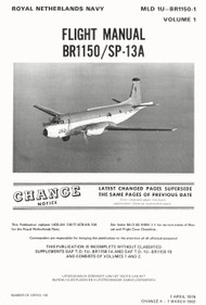Breguet BR 1150  / SP-13A   Aircraft Flight Handbook Manual (English  Language ) MLD T.O. 1U-BR1150-1 Volume 1