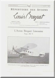 Breguet 280 T   Aircraft Technical Brochure  Manual ( French Language )