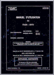 Potez Fouga CM.170 Magister Aircraft Utilization  Manual ( French Language )