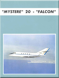 "Dassault  Falcon "" Mystere "" 20  Aircraft Aircraft Technical Brochure  Manual , ( English Language )"