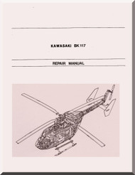 MBB / Kawasaki BK 117 Helicopter Structural Repair Manual , ( English and Japanese Language )