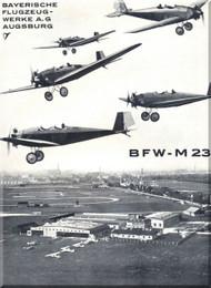 Messerschmitt BFW - M-23 Aircraft  Technical Brochure  Manual ,    (German Language )