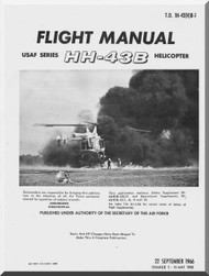KAMAN HH-43 B Helicopter Flight Manual  T.O. 1H-43(H)B-1 , 1966