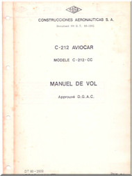 CASA C-212- CC Aviocar   Aircraft Flight Manual - ( French Language )