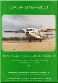 CASA C-212- 200 Aviocar   Aircraft Techincal Brochure Manual - ( French Language )