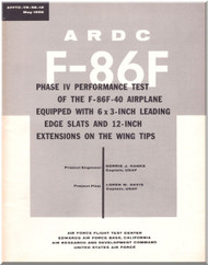 North American Aviation F-86 F Aircraft Performance Test Manual