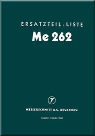 Messerschmitt Me-262  Aircraft  Illustrated Parts Catalog  Manual ,    (German Language ) - Me-262   Ersatzteilliste, 1944,