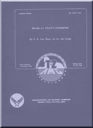Messerschmitt Me-262 A-1  Aircraft  Pilot's Handbook  Manual ,    (English Language ) - 1946