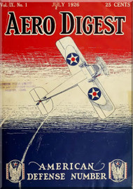 Aero Digest  Aircraft Aviation Magazines July 1926