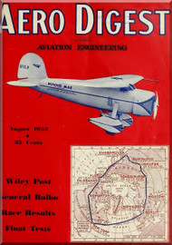 Aero Digest  Aircraft Aviation Magazines August 1933