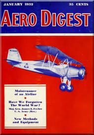 Aero Digest  Aircraft Aviation Magazines January 1932