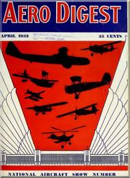 Aero Digest  Aircraft Aviation Magazines April 1932