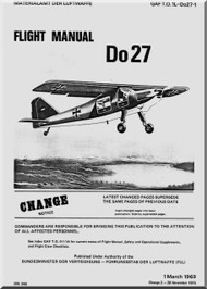 Dornier DO 27  Aircraft  Flight Manual