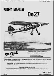 Dornier DO 27  Aircraft  Flight Manual