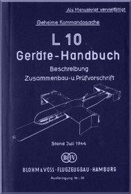 Blohm & Voss L-10 Aircraft Technical Manual -   (German Language )