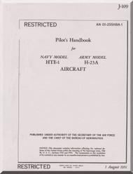 Hiller H-23 A , HTE-1  Helicopter Pilot Handbook  Manual - AN 01-255HBA-1 -1951
