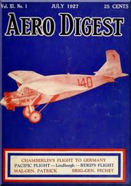 Aero Digest  Aircraft Aviation Magazines July 1927