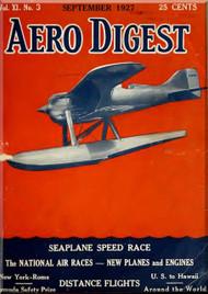 Aero Digest  Aircraft Aviation Magazines September  1927