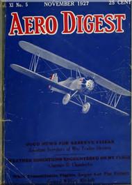 Aero Digest  Aircraft Aviation Magazines November 1927