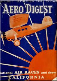 Aero Digest  Aircraft Aviation Magazines September 1928