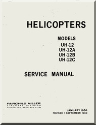 Hiller  UH-12 A, B , C Helicopter Service Manual