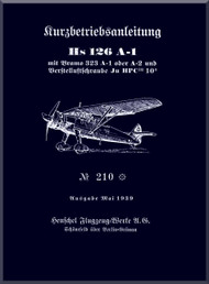 Henschel  He-126 A-1  Aircraft  Technical Manual     (German Language )