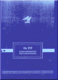 Heinkel  He-219  Aircraft  Flight Achievements   Manual Baureihenubersicht und Flugleistungen (German Language )