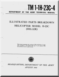 Hiller H-23 C  Helicopter Illustrated Parts Breakdown  Manual - TM 1-1H-23C-4 -