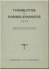 Dornier  Aircraft  Typenblatter Dornier Baumaster - 1939 (German Language )