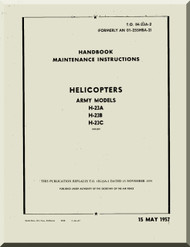 Hiller H-23 B, C  Helicopter Maintenance instructions  Manual -  T.O. 1H-23A-2 -AN 01-255HBA-2