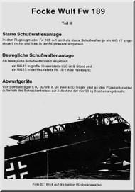 Focke-Wulf  FW 189 A-0   Aircraft  handbook Manual ,    (German Language ) - Schubwaffenanlage