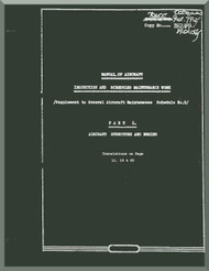 Mikoyan Gurevich MiG-17 F  Aircraft Inspection and Scheduled Maintenance Work Manual - Aircraft Structure and Engine - ( English  Language )