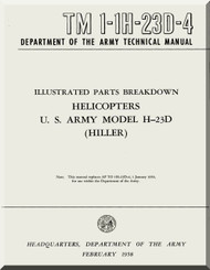 Hiller H-23 D  Helicopter Illustrated Parts Breakdown  Manual - TM 1-1H-23D-4 -