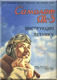 Yakovlev Yak-3 Aircraft  Technical  Manual ,    (Russian  Language ) -