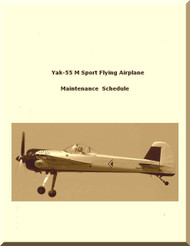 Yakolvev Yak-55 M Aircraft  Maintenance  Schedule Manual ,    (English  Language )