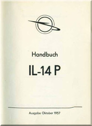 Ilyushin Il-14 P  Aircraft Technical Manual - ( German  Language ) - 1957